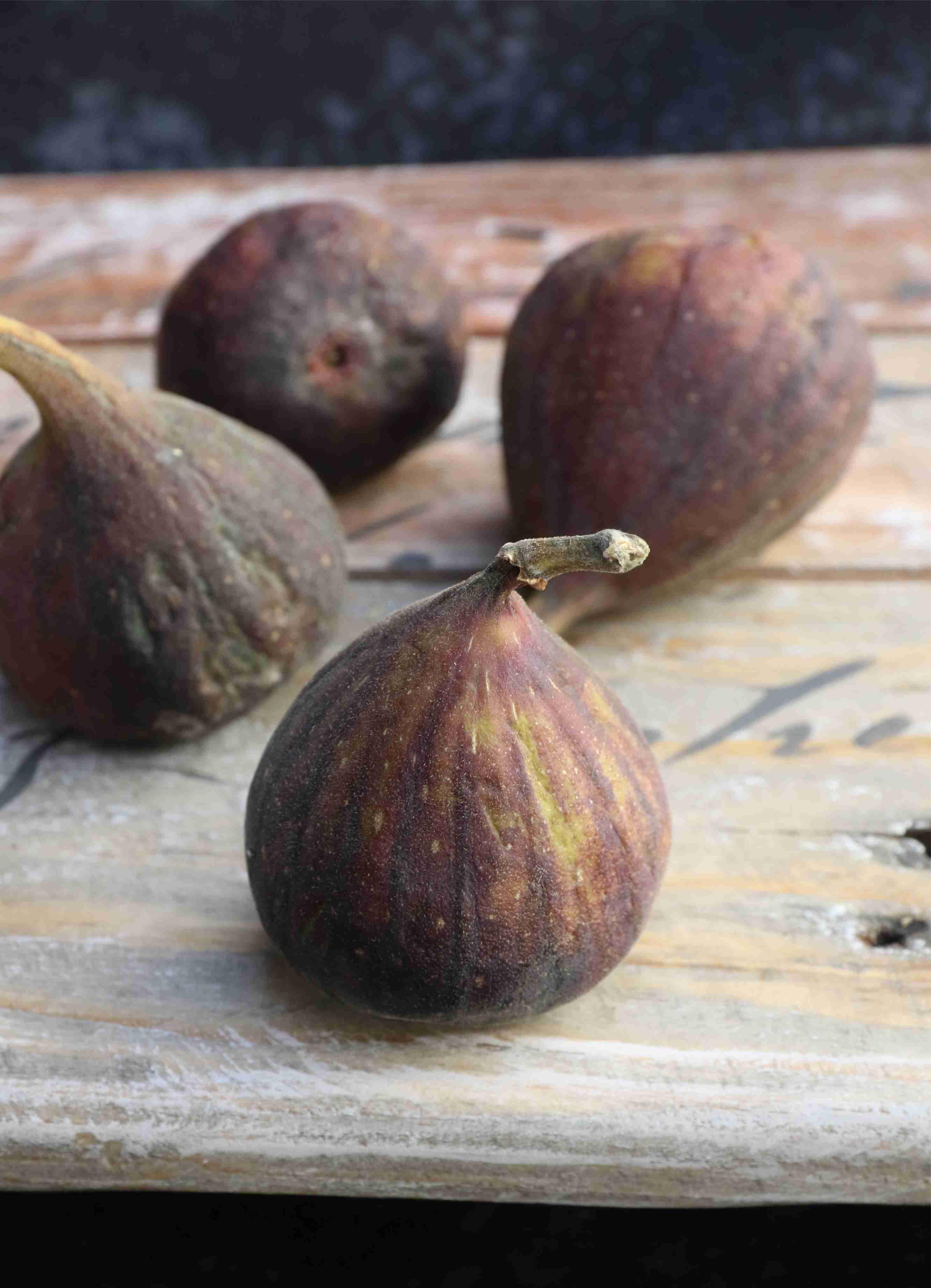 Figs on wood 2 tea towel